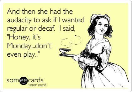 regular or decaf
