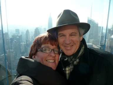 Greetings from the Top of the Rock - the kids sent us to New York City for our 35th anniversary.