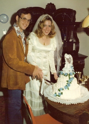 October 26, 1975.Boise, Idaho, in the home of Ed and Jean Jacoby, these two kids tied the knot
